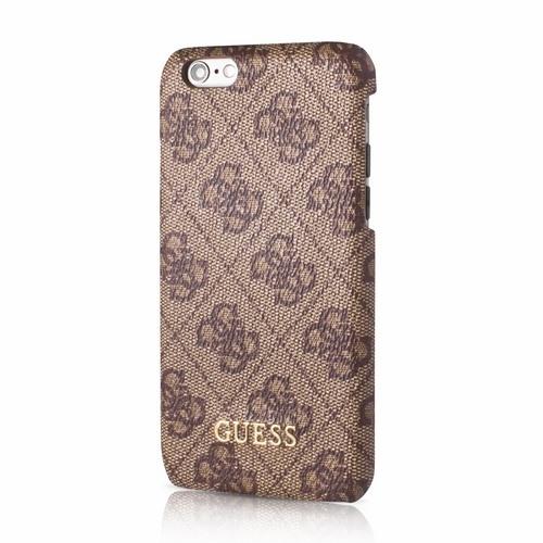 Husa_iPhone_6S_iPhone_6_Capac_Spate_GUESS_Rhomb_Design_Elegant_Brown