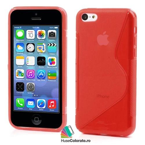 Husa_Gel_Silicon_Apple_iPhone_5C_Model_S_Rosie