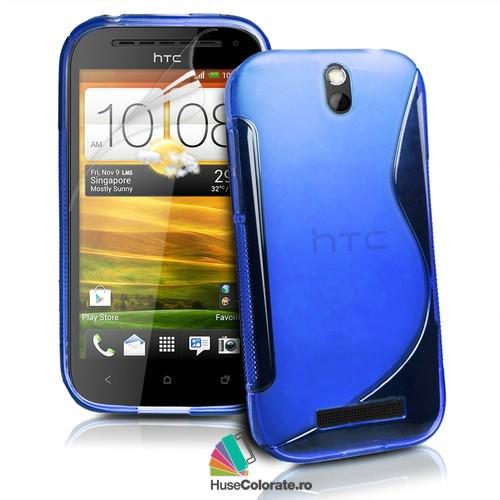 Husa_Gel_Silicon_HTC_One_SV_Model_S_Albastra