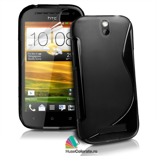 Husa_Gel_Silicon_HTC_One_SV_Model_S_Neagra