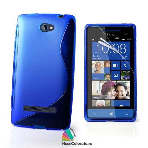 Husa_Gel_Silicon_HTC_Windows_Phone_8S_Model_S_Albastra