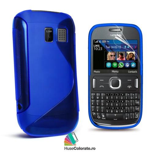 Husa_Gel_Silicon_Nokia_Asha_302_Model_S_Albastra