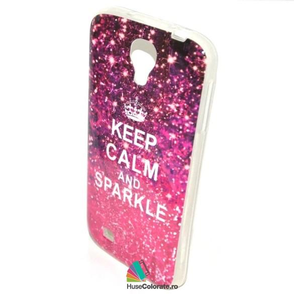 Husa_Gel_Silicon_Samsung_i9500_Galaxy_S4_Model_Keep_Calm_and_Sparkle