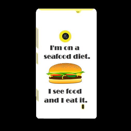 Husa_Nokia_Lumia_520_Plastic_Slim_Model_Seafood_Diet