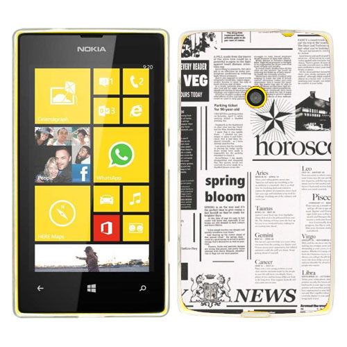 Husa_Nokia_Lumia_520_Silicon_Gel_Tpu_Model_Newspaper