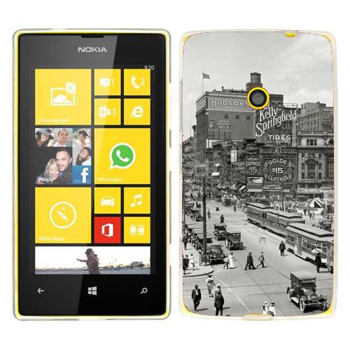 Husa_Nokia_Lumia_520_Silicon_Gel_Tpu_Model_Vintage_City