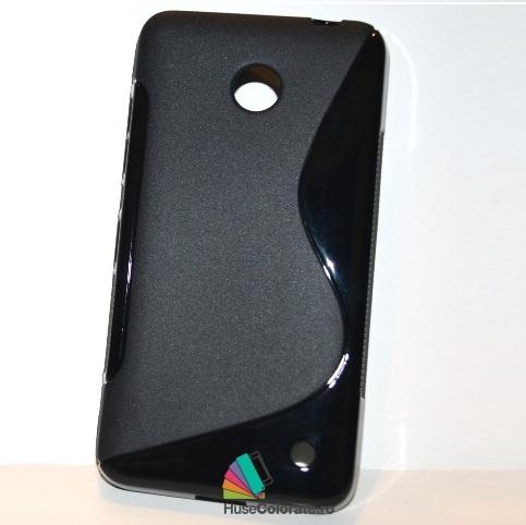Husa_Silicon_Gel_Nokia_Lumia_630_S-Line_Neagra