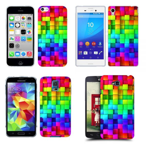 Husa_Silicon_Gel_Tpu_Model_Colorful_Cubes_All_Phones