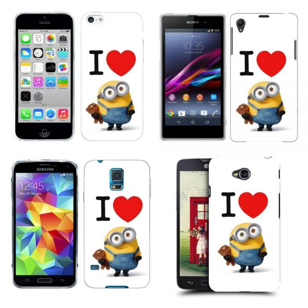 Husa_Silicon_Gel_Tpu_Model_I_Love_Minions_All_Phones