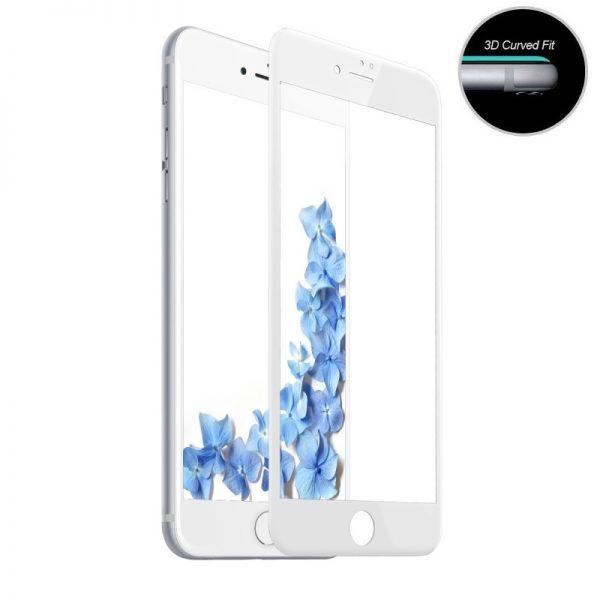 Folie-Sticla-iPhone-6S-Plus-Alba-Full-Cover-3D-Protectie-Ecran-Antisoc-Tempered-Glass
