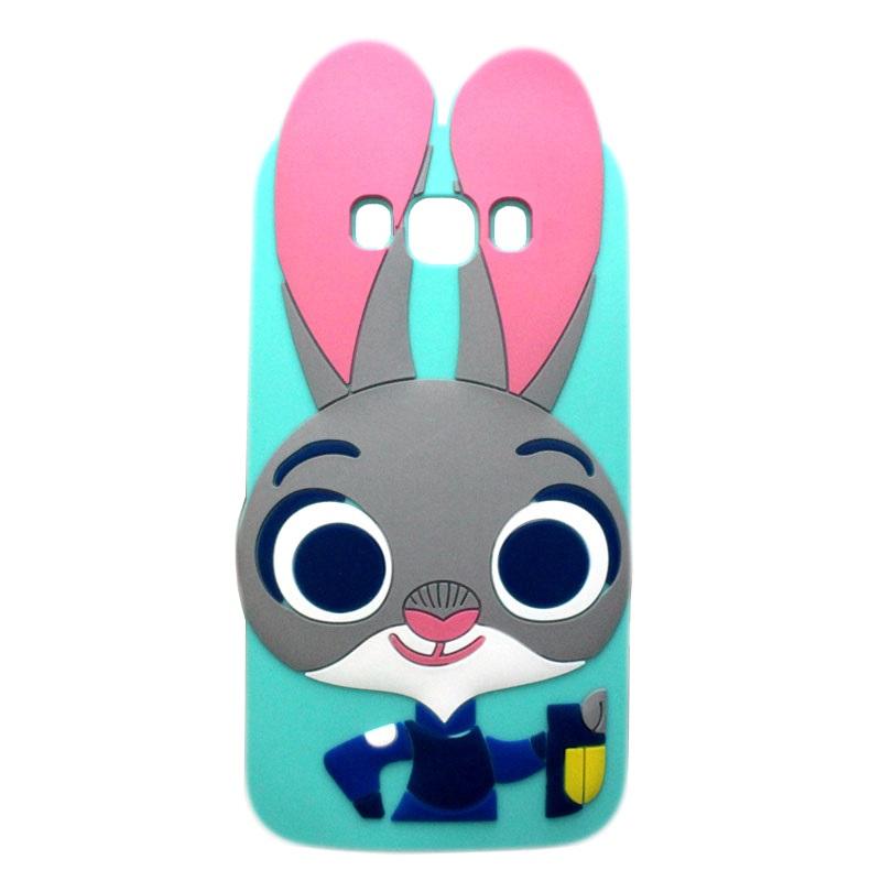 4cd2491d1b2 Husa Samsung Galaxy J5 2016 J510 Silicon 3D Urechi Iepuras Green ...