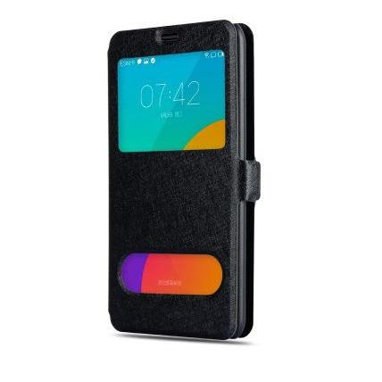 Husa-Samsung-Galaxy-J3-sau-J3-2016-J320-Toc-Flip-Orizontal-Book-Window-View-Fereastra-Negru
