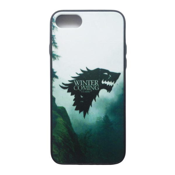 Husa iPhone 7 si 8 Hybrid Design Model Winter is Coming