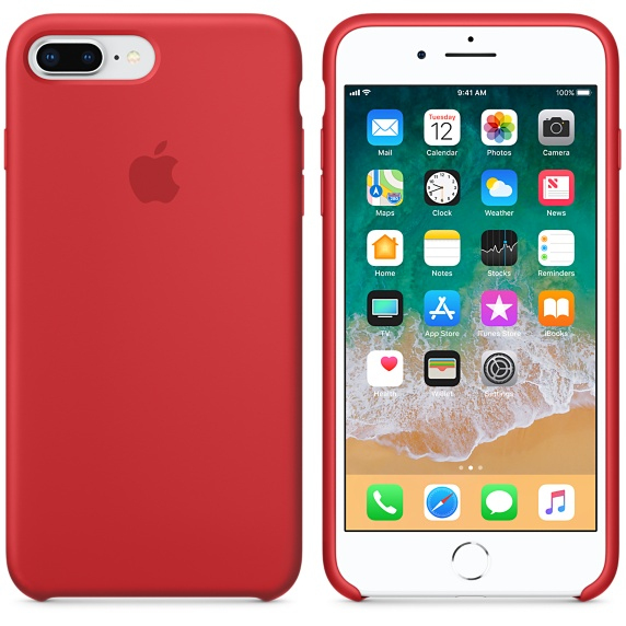 Apple Silicone Product Red iPhone 7 Plus si 8 Plus