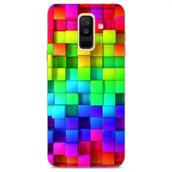 Husa-Samsung-Galaxy-A6-Plus-2018-Silicon-Gel-Tpu-Model-Colorful-Cubes