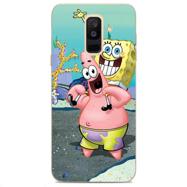 Husa-Samsung-Galaxy-A6-Plus-2018-Silicon-Gel-Tpu-Model-Spongebob