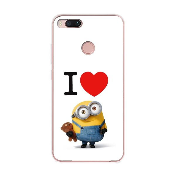 Husa-Xiaomi-Mi-A1-Silicon-Gel-Tpu-Model-I-Love-Minions