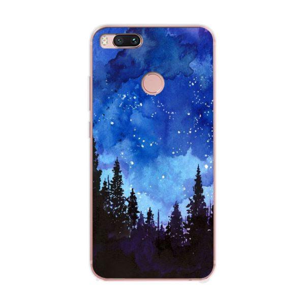 Husa-Xiaomi-Mi-A1-Silicon-Gel-Tpu-Model-Night-Forest