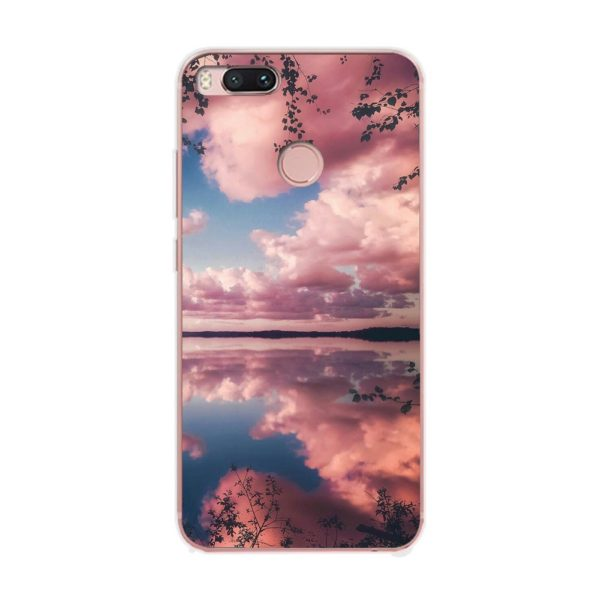 Husa-Xiaomi-Mi-A1-Silicon-Gel-Tpu-Model-Pink-Clouds