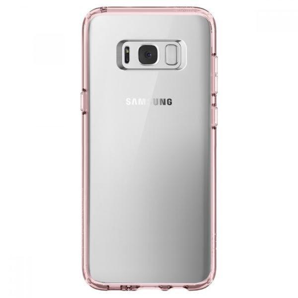 Husa Samsung Galaxy S8 si S8 Plus Originala Spigen Ultra Hybrid Crystal Pink