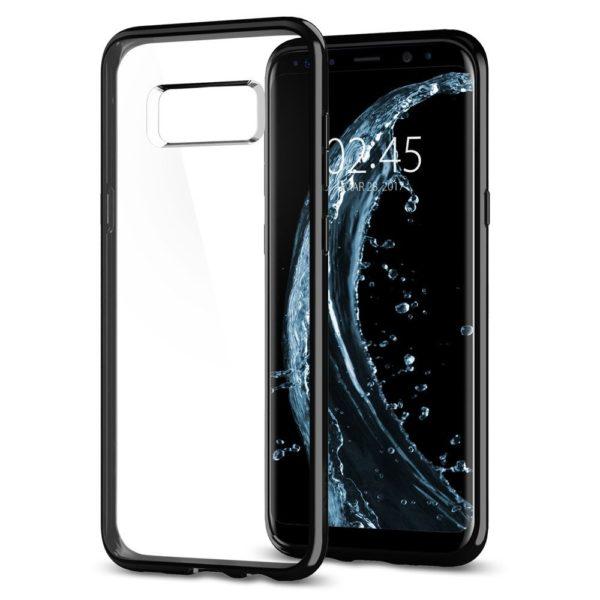 Husa Samsung Galaxy S8 si S8 Plus Originala Spigen Ultra Hybrid Jet Black