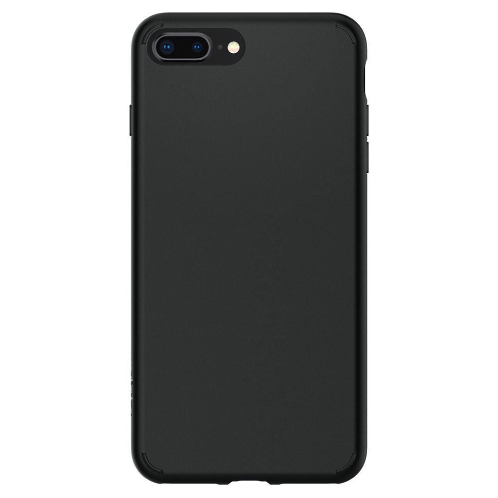 purchase cheap ae7cd d6f70 Husa iPhone 7 Plus sau iPhone 8 Plus Originala Spigen Liquid Crystal 2  Silicon Matte Neagra