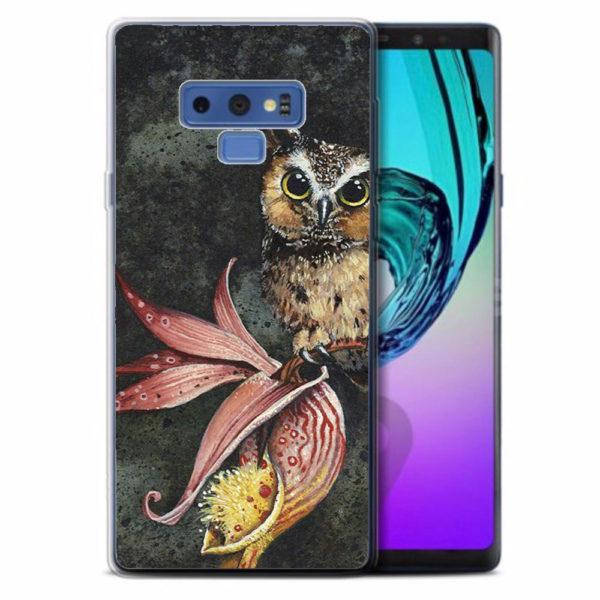 Husa-Samsung-Galaxy-Note-9-Silicon-Gel-Tpu-Model-Owl-Painted
