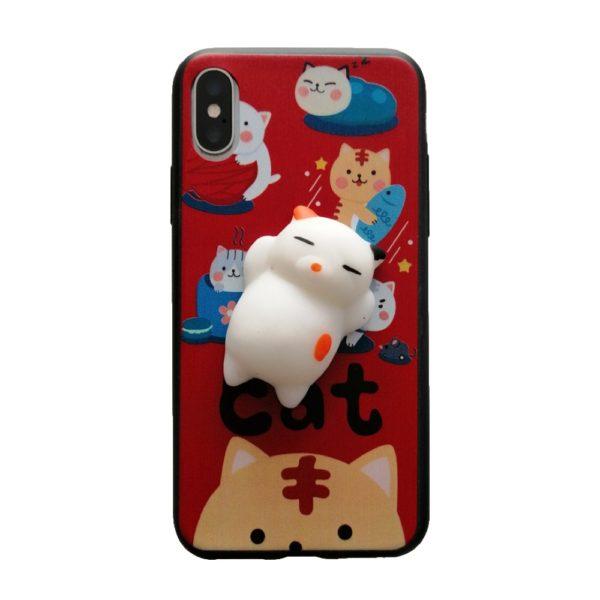 Husa Squishi Soft Cat Red