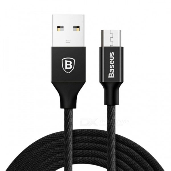Cablu Date Micro Usb Baseus Yiven 2A 1.5M Nylon Black