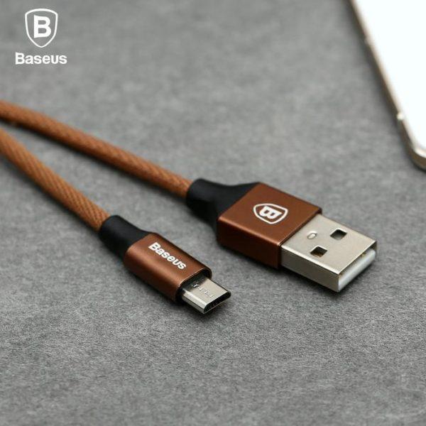 Cablu Date Micro Usb Baseus Yiven 2A 1.5M Nylon Coffee