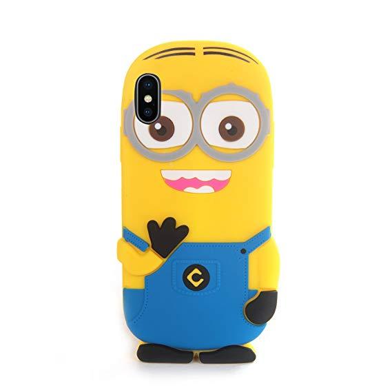 Husa iPhone XS Max Silicon 3D Minioni