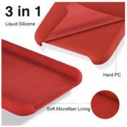 Husa Samsung Galaxy A51 A71 Silicone Soft Liquid Vennus RED Rosie3