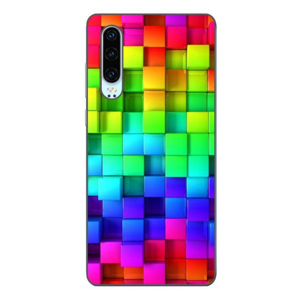 Husa-Huawei-P30-Silicon-Gel-Tpu-Model-Colorful-Cubes