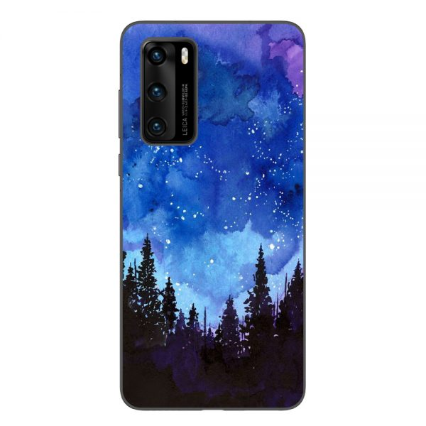 Husa-Huawei-P40-Silicon-Gel-Tpu-Model-Night-Forest