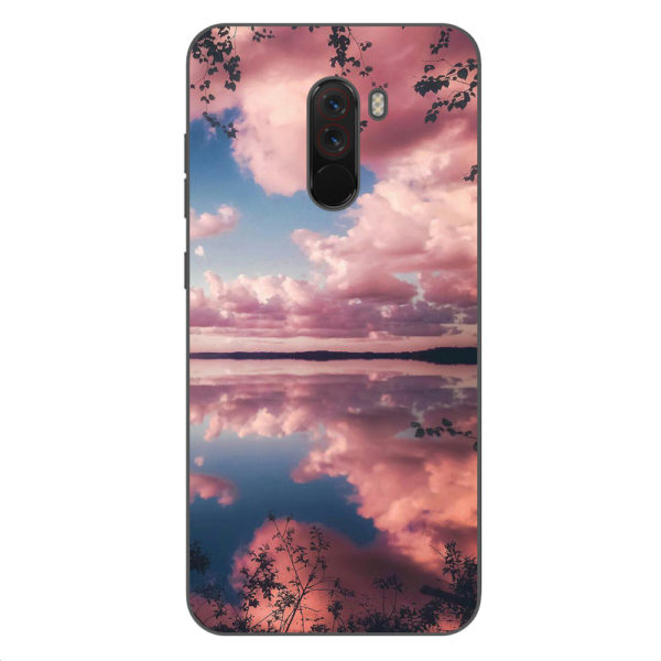 Husa-Xiaomi-Pocophone-F1-Silicon-Gel-Tpu-Model-Pink-Clouds