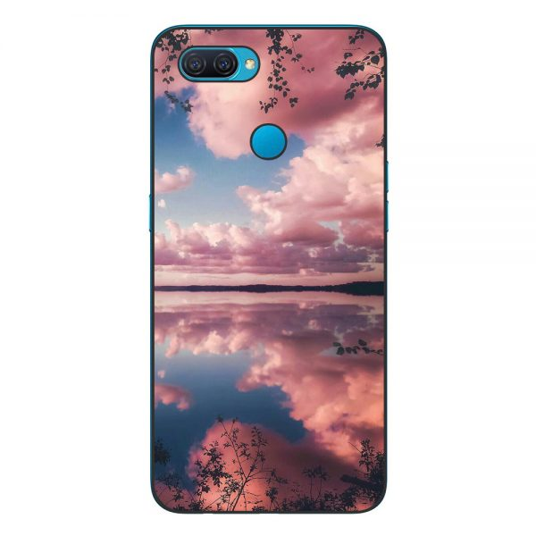 Husa-Oppo-A12-Silicon-Gel-Tpu-Model-Pink-Clouds