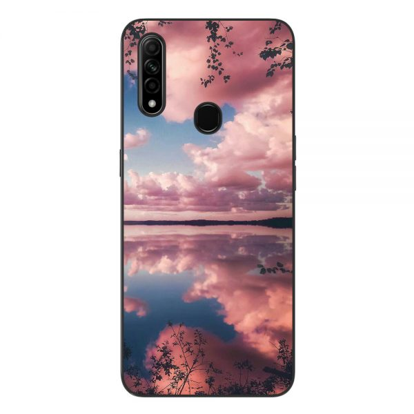 Husa-Oppo-A31-Silicon-Gel-Tpu-Model-Pink-Clouds