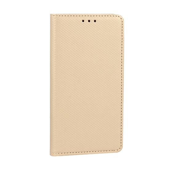 Husa Telefon Flip Tip Carte Book Magnet Gold Auriu
