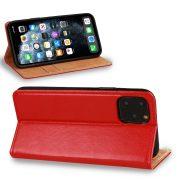 Husa Tip Carte Telefon Toc Book Flip Piele Naturala Rosie4