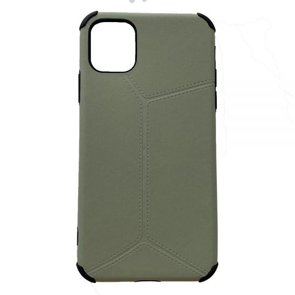 Husa iPhone 11 Silicon Antishock Leather Verde