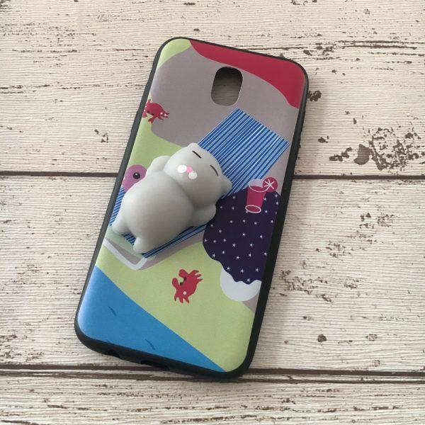 Husa-Samsung-Galaxy-J3-2017-Silicon-Squishi-3D-Pisicuta-Summer