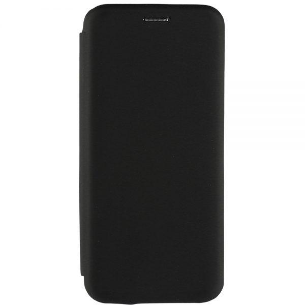 Husa-iPhone-12-Pro-Max-Piele-Ecologica-Venus-Book-Neagra