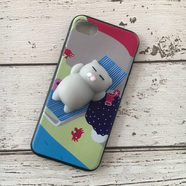 Husa-iPhone-7-sau-iPhone-8-sau-iPhone-SE-2020-Silicon-Squishi-3D-Pisicuta-Summer