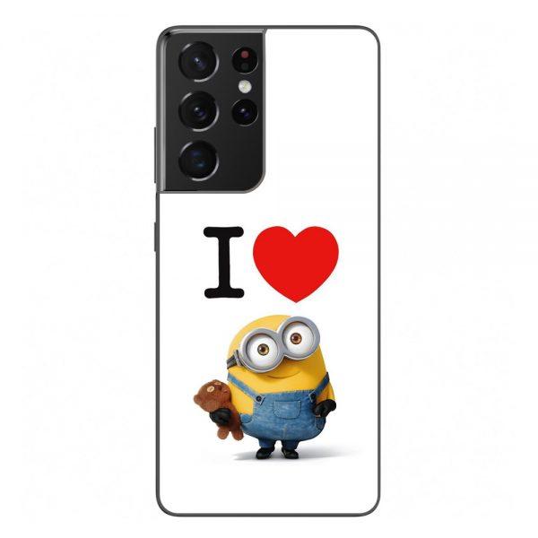 Husa-Samsung-Galaxy-S21-Ultra-Silicon-Gel-Tpu-Model-I-Love-Minions