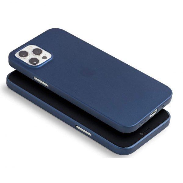 Husa iPhone 12 si iPhone 12 Pro Ultra Slim PP Matte Albastra Navy Blue