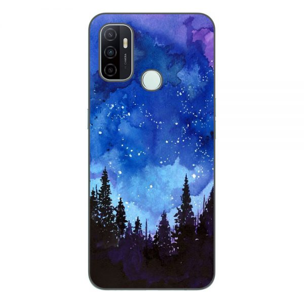 Husa-Oppo-A53-Silicon-Gel-Tpu-Model-Night-Forest