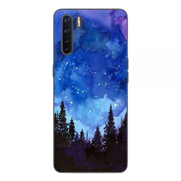 Husa-Oppo-A91-Silicon-Gel-Tpu-Model-Night-Forest