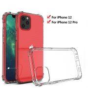 Husa iPhone 12 si iPhone 12 Pro Silicon Armour AntiShock Transparenta2